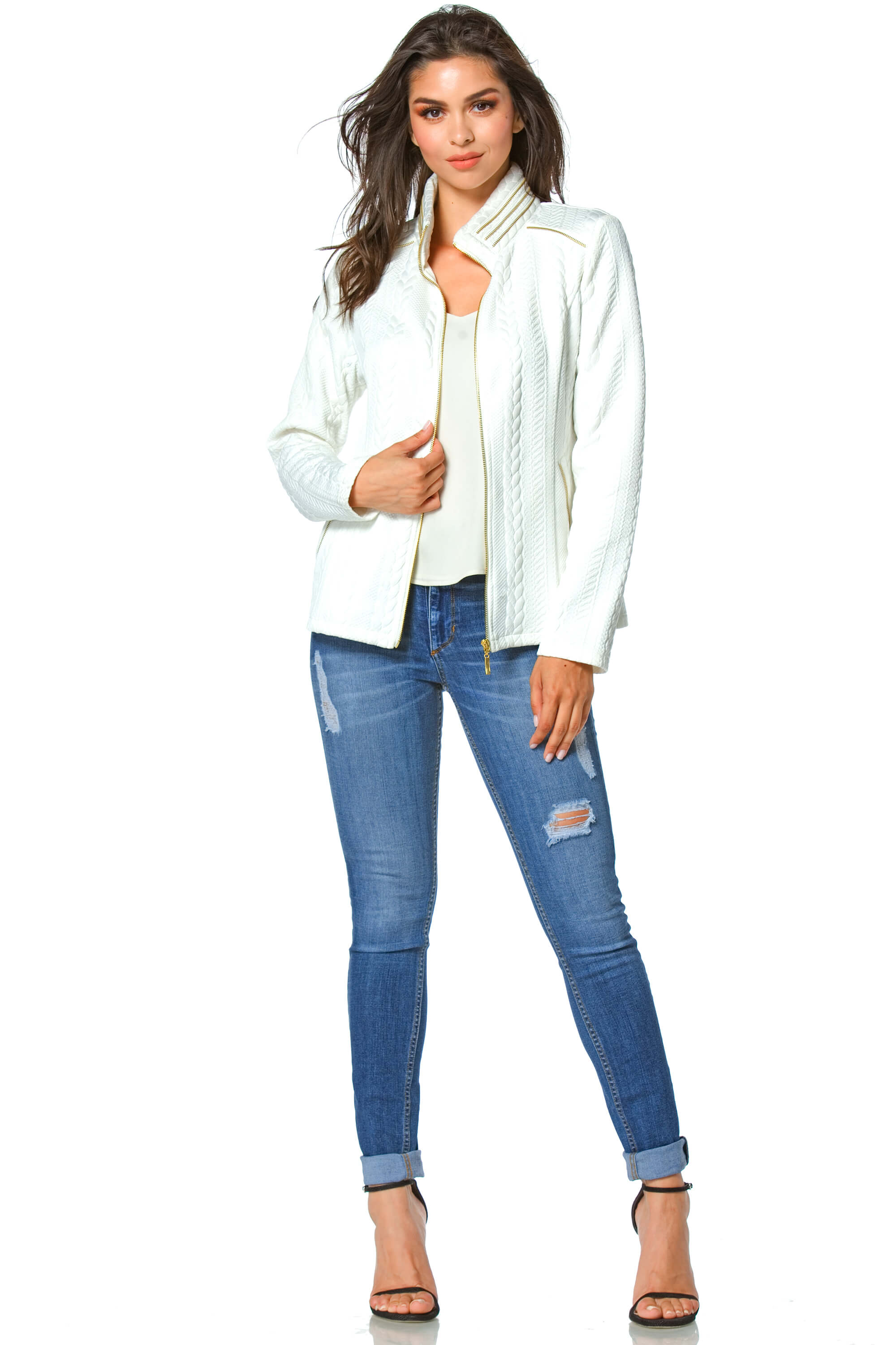 Rhea Women's Rope Texture Jacket
