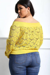 Fiona Plus Size Off the Shoulder Lace Bomber Jacket for Women