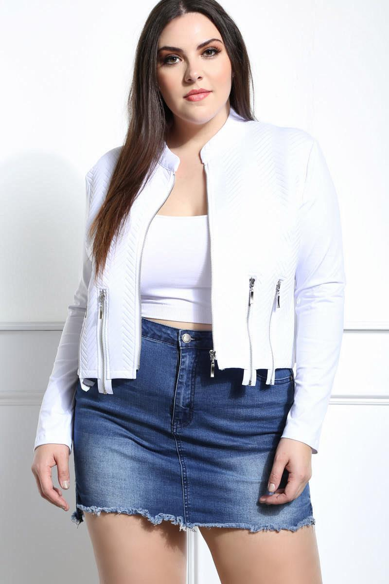 Brave Plus Size Zipper Jacket for Women