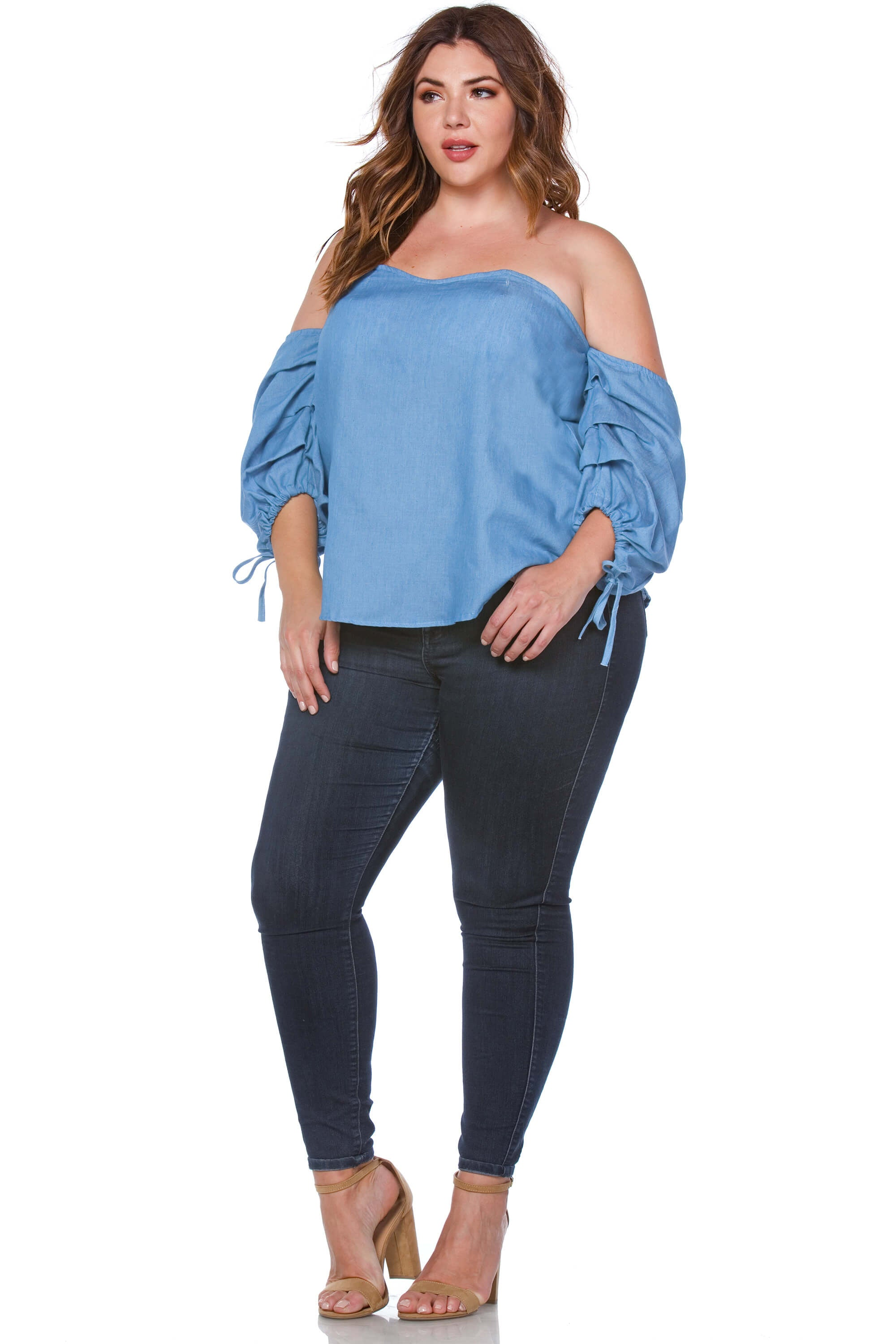 Harley Plus Size Off the Shoulder Blouse for Women