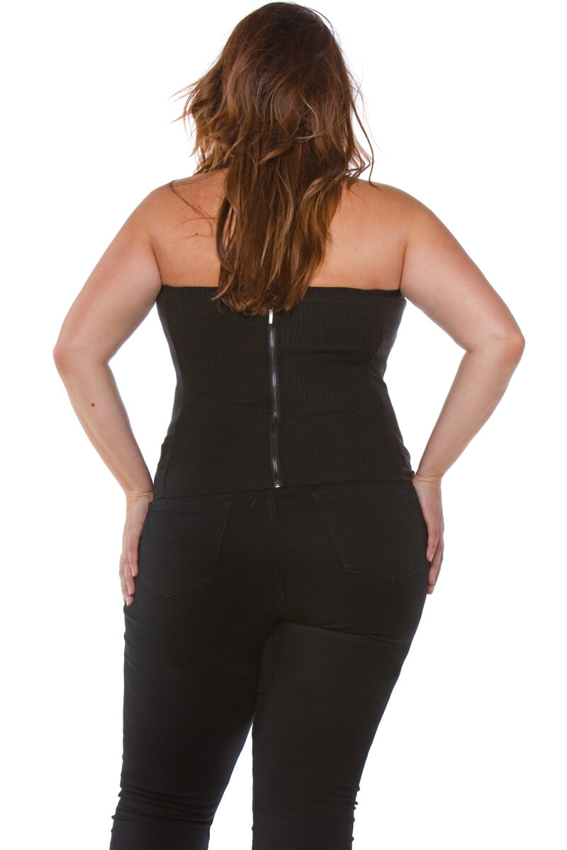 Rebel Plus Size Vegan Leather Corset Top for Women