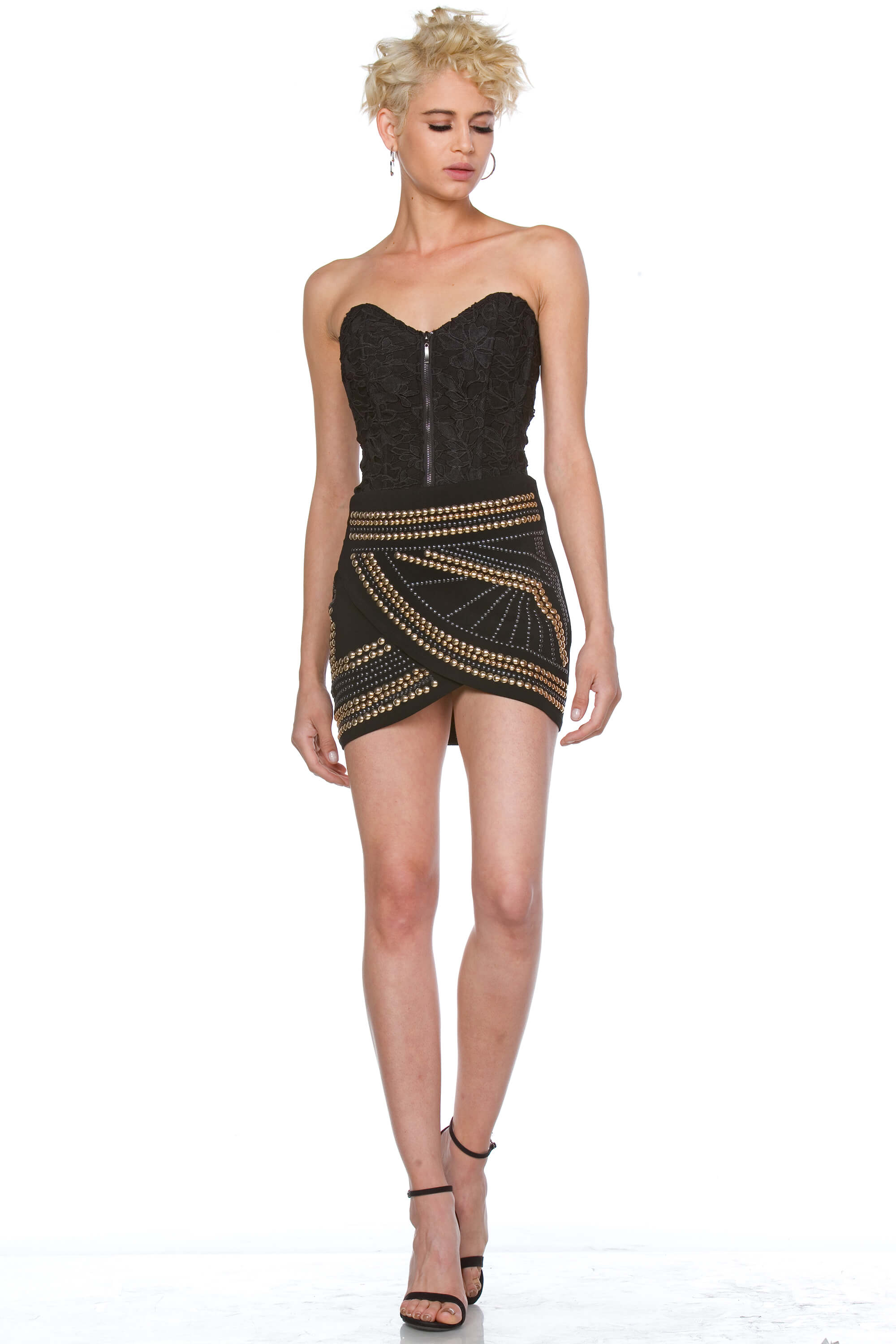 Amaris Studded Mini Skirt for Women