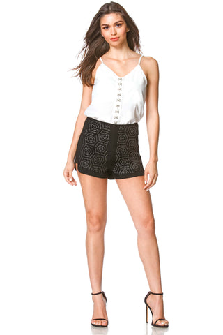 Naomi Studded High Waist Shorts, bottoms - shoptoni.com