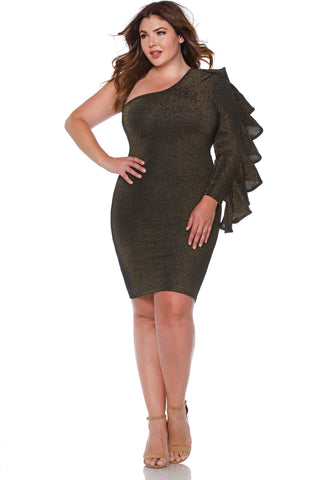 Diana Plus Size One Shoulder Dress