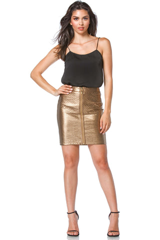 Paige Vegan Leather Skirt for Women