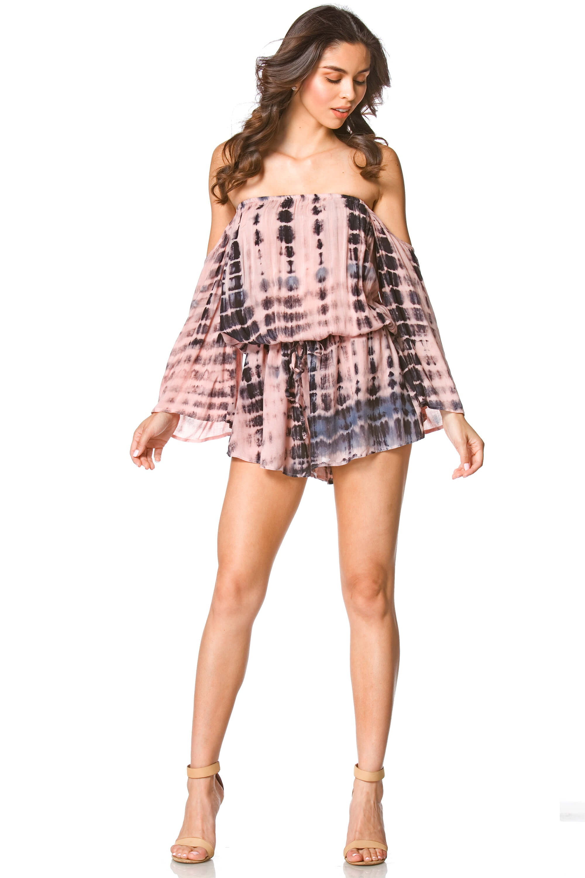 Hudson Tie Dye Romper in Black, Dresses & Rompers - shoptoni.com