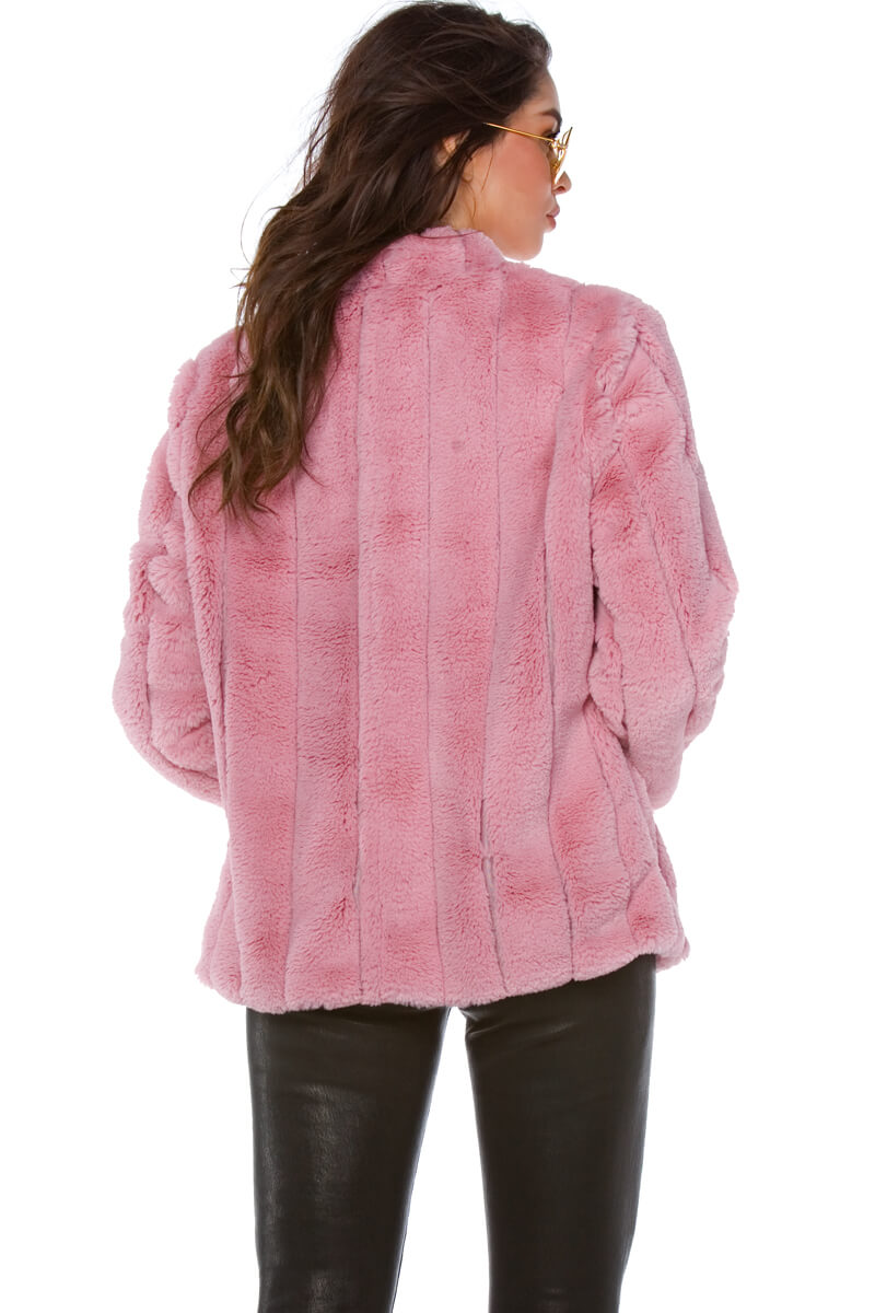 Taylor Faux Rabbit Fur Jacket for Women
