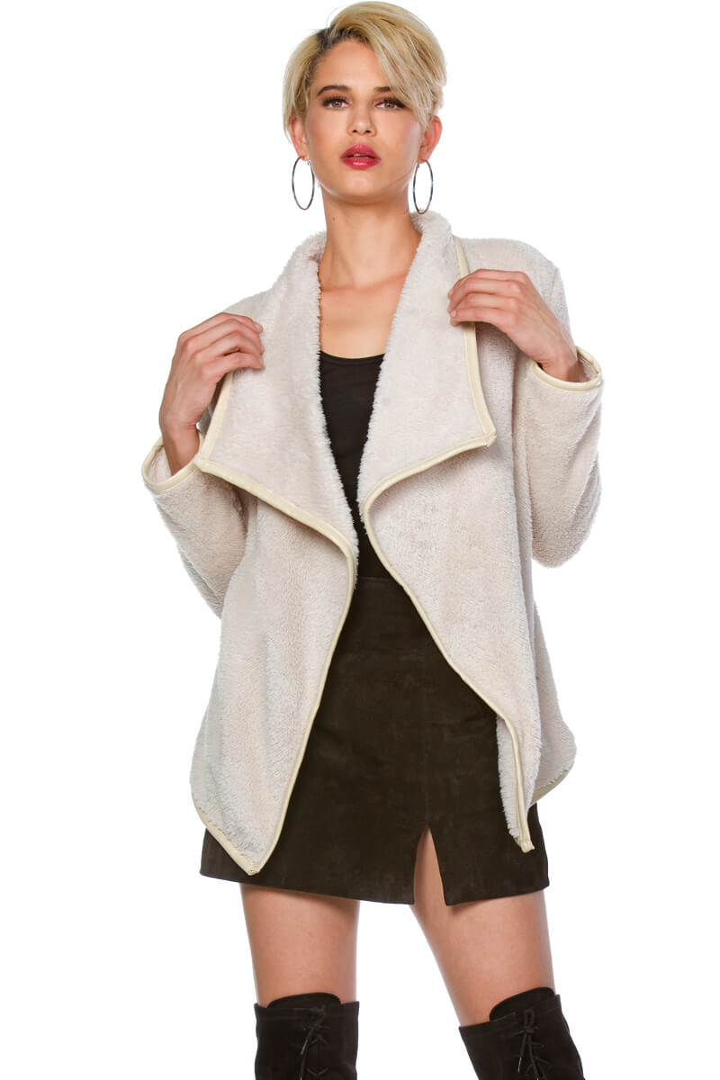 Amberly Double Sided Fur Cardigan for Women