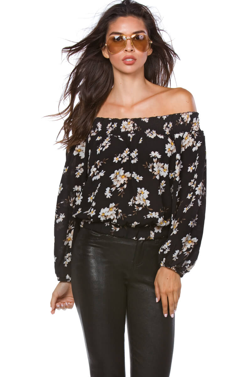 Leigh Soft Rayon Off the Shoulder Top for Women