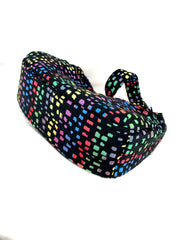 Boat Bag,  Large, in Rainbow Mosaic Chenille