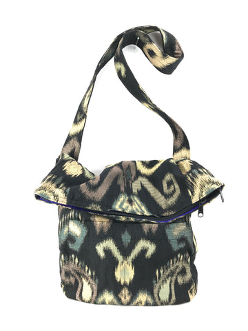 Sack Purse in Ikat Tapestry