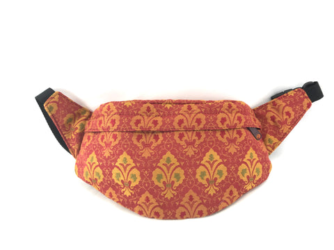 Small Hip Bag in Rosy Red Fleur De Lis