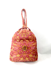Backpack, Small, in Orange Sunshine Jacquard