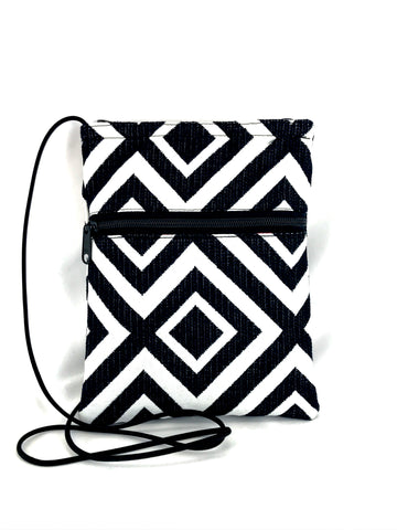 Patch Purse in Black & White Bold Geometric