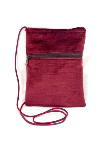 Patch Purse in Burgundy Velvet