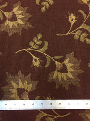 Fabric 36: Chestnut & Ivory Floral