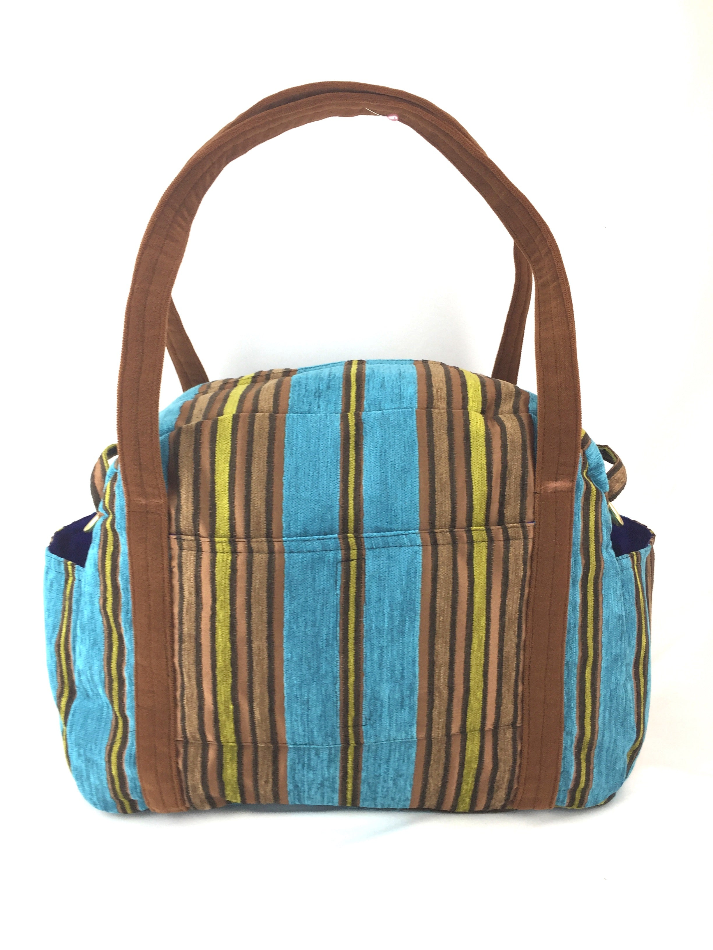 Turquoise & Wood Holly Carry-On Bag