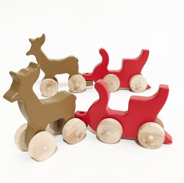 Mini Reindeer and Sleigh Set