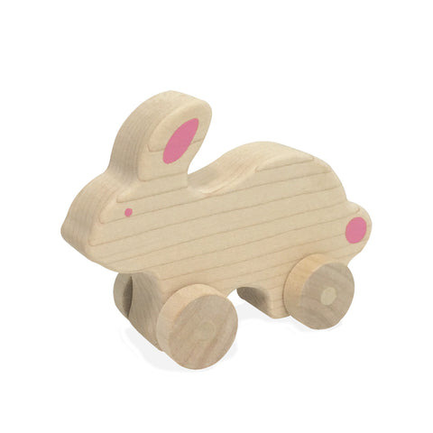 Natural Bunny Push Toy