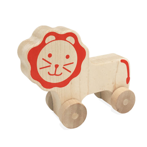 Natural Lion Push Toy