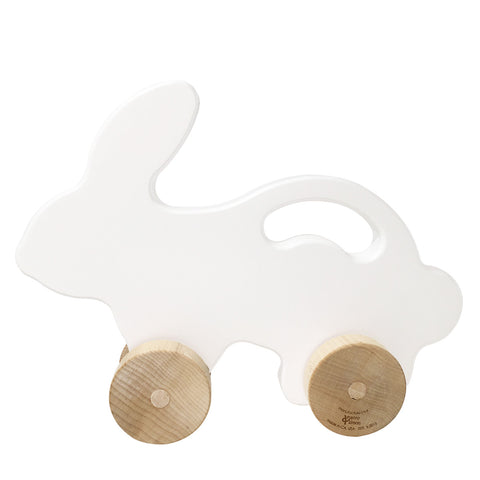 Bunny Push Toy, White