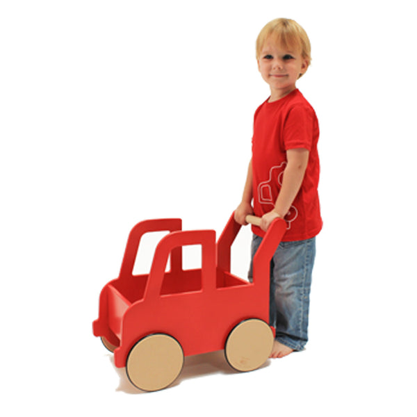 Bright Navy Truck Push Cart