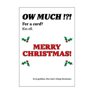 Ow Much Christmas Card