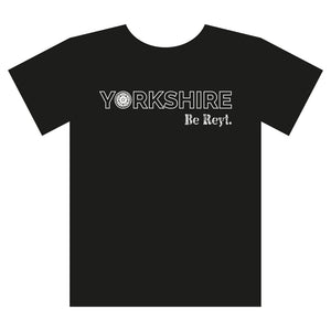 Yorkshire Stuff t-shirt, Yorkshire, be reyt, black and white
