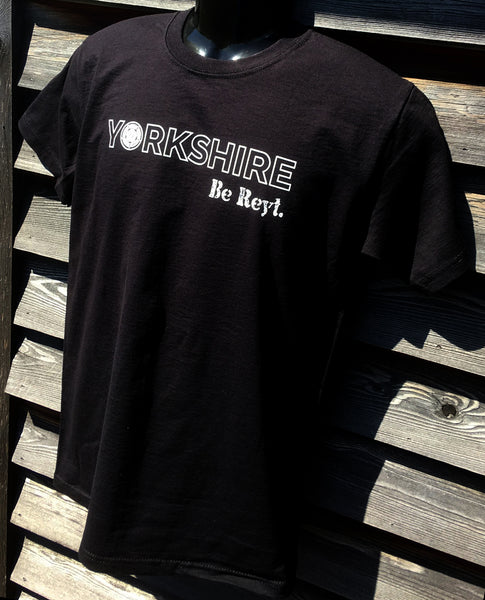 Yorkshire Be Reyt T-shirt Black