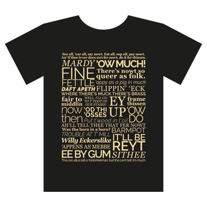 Yorkshire Dialect T shirt Black