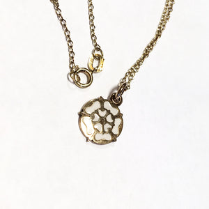 White Rose Necklace 9ct Gold
