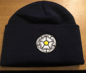 White Rose Beanie Hat