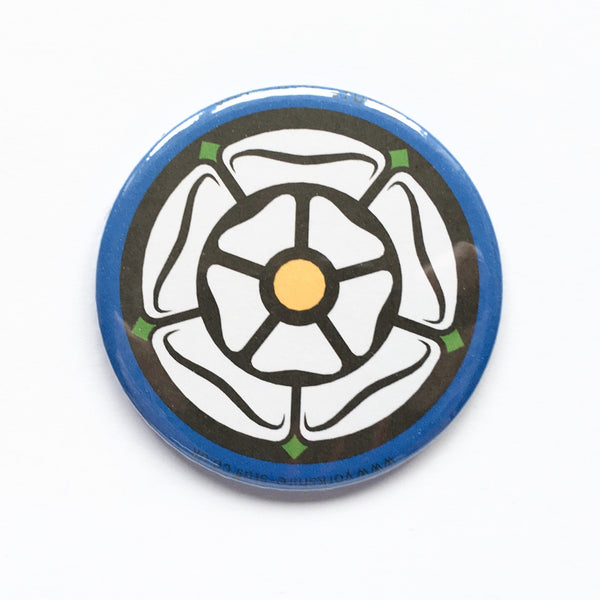 White Rose Pocket Mirror