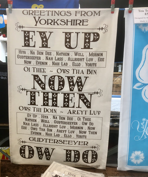 Greetings from Yorkshire Tea Towel