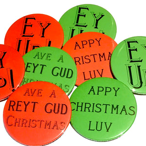 Yorkshire Christmas Badges