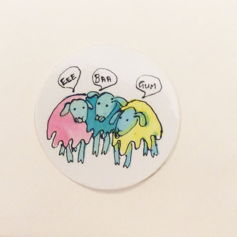 Yorkshire Sheep Sticker