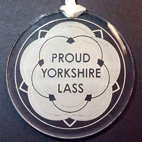 Proud Yorkshire Lass Hanging Decoration