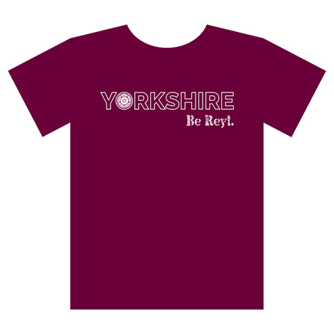 Yorkshire Be Reyt T-shirt Burgundy