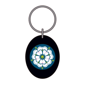 White Rose Keyring