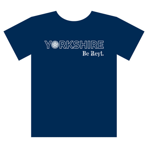 Yorkshire Be Reyt T-shirt Navy