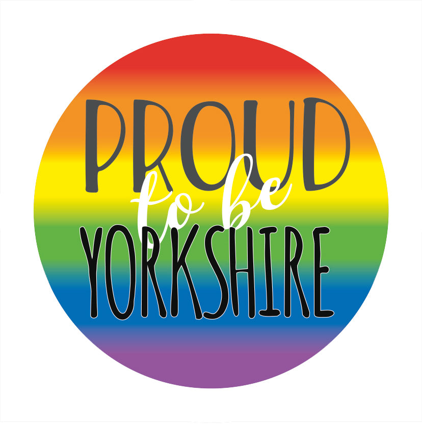 Rainbow Proud to be Yorkshire Badge