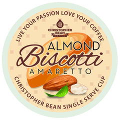Amaretto Almond Biscotti New Improved Flavor Single Cup (New 18 Count)