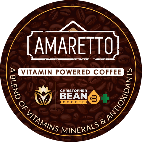 Vitamin Powered Coffee, Energy & Focus Amaretto Flavor Single Cup