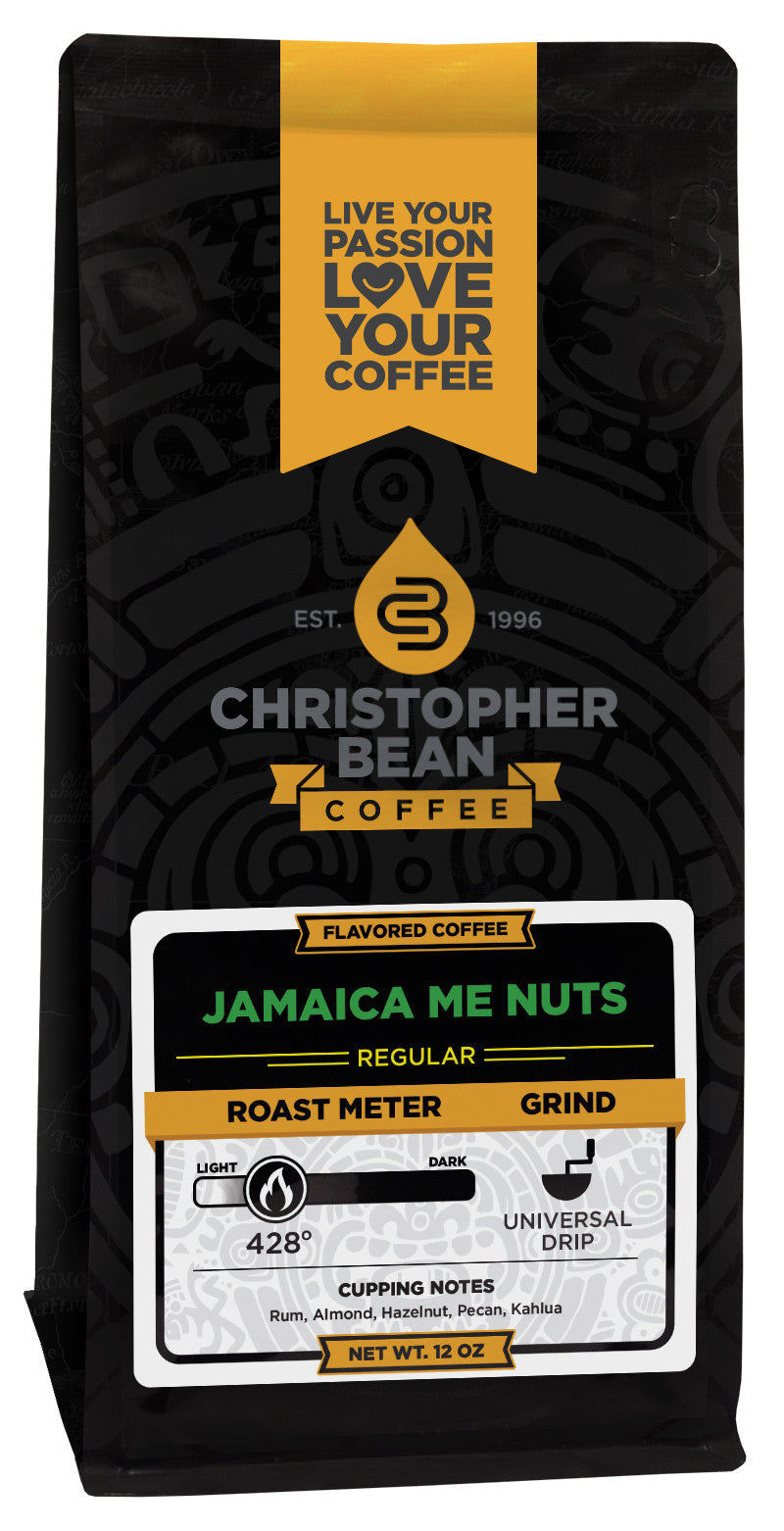 Jamaica Me Nuts Flavored Coffee Christopher Bean Coffee