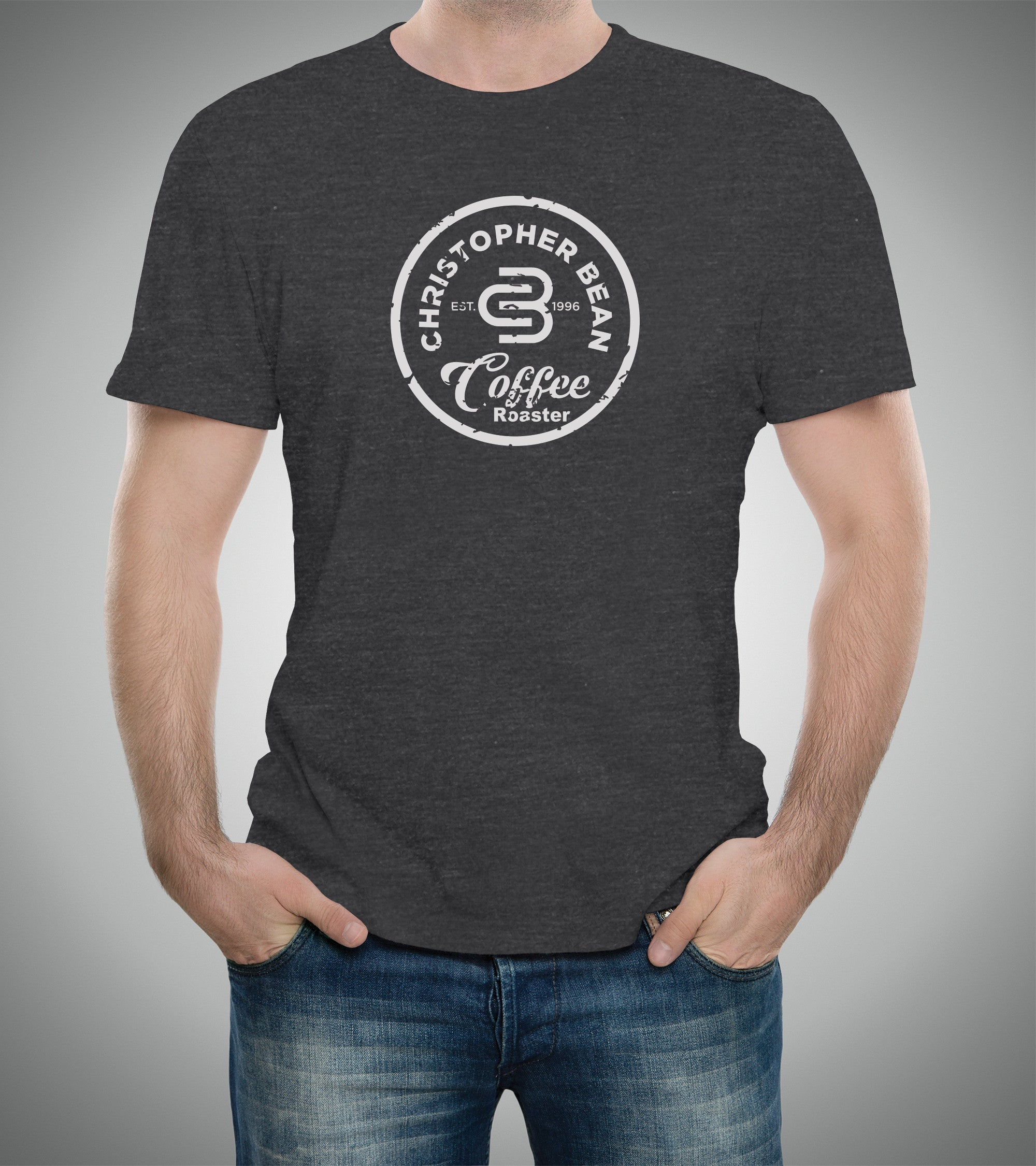 Mens Since 1996 Coffee Roaster White Logo T Shirt