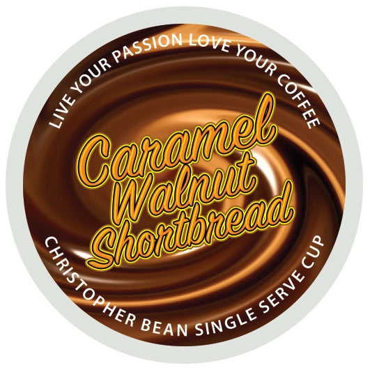 Caramel Walnut Shortbread Single Cup ( New 18 Count Box )