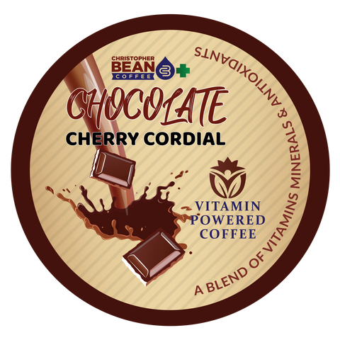 Vitamin Powered Coffee, Chocolate Cherry Cordial Energy & Focus Single Cup