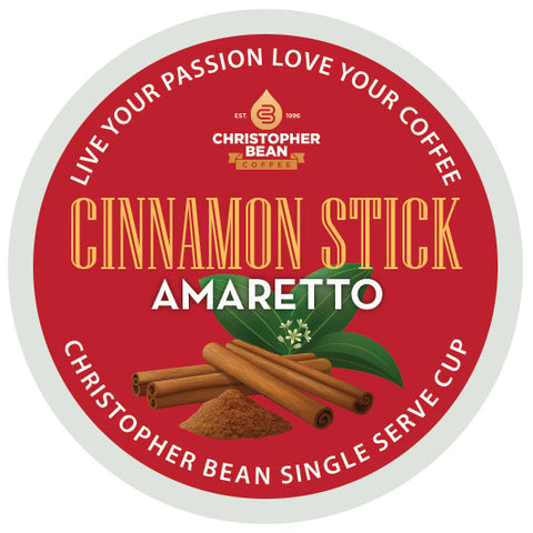 Amaretto Cinnamon Stick Single Cup (New 18 Count)