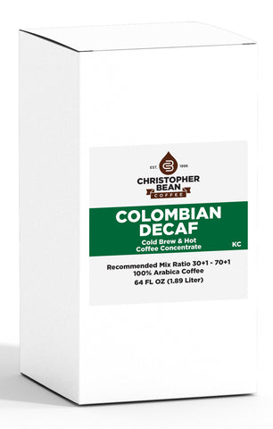 Colombian Decaffeinated Cold Brew Or Hot Coffee Concentrate Bag In Box 30:1