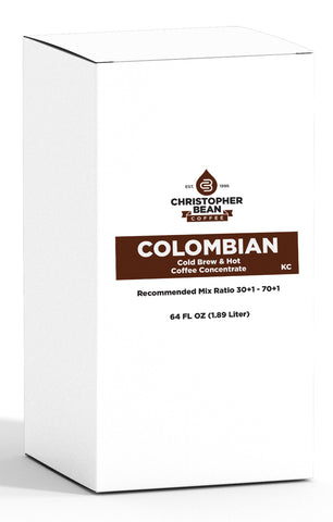 Colombian Cold Brew Or Hot Coffee Concentrate Bag In Box High Yield 70:1